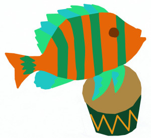 Fish with drum