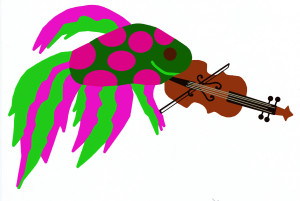 Fish with violin