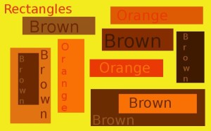 Rectangles, orange and brown
