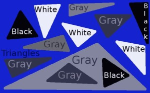 Triangles, black, white, adn gray
