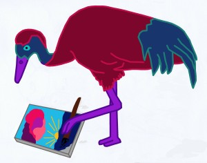Multiplication Crane painting picture