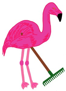 Multiplication Flamingo with rake